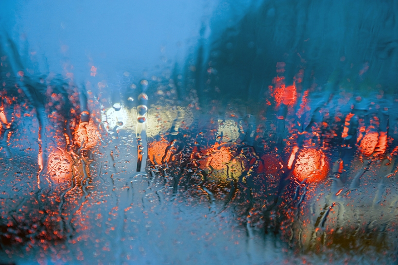 This is why lights are necessary.  http://www.addspacetoyourlife.com/wp-content/uploads/2010/01/Driving_in_rain.jpg
